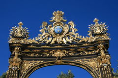 Stanislas Place in Nancy. Detail of the Place Stanislas in Nancy, France Royalty Free Stock Photo