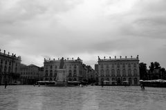 The stanislas place in nancy. Under clouds and sun Royalty Free Stock Photo