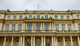 The stanislas place in nancy. Under clouds and sun Royalty Free Stock Photos