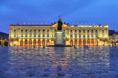 Stanislas Square in the evening, Nancy,  France. Stanislas Square in the evening, Nancy, Lorraine,  France Stock Photography