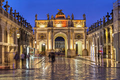 Stanislas Square in the evening, Nancy,  France Royalty Free Stock Images