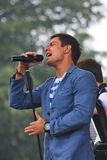 Stanislav Piatrasovich Piekha (Stas Piekha) — är en rysk populär sångare och skådespelare och sonsonen av Edita Piekha Arkivbilder