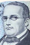 Stanislaw Moniuszko портрет от старого 100 злотых tousend Стоковые Изображения