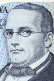 Stanislaw Moniuszko a portrait from old one hundred tousend zloty Stock Images