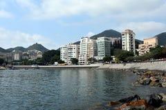 Stanley är en stad och en turist- dragning i Hong Kong Fotografering för Bildbyråer
