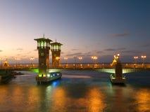 Stanley Bridge in Alexandria. Stanley Bridge over the Stanley Bay in Alexandria (Egypt royalty free stock images