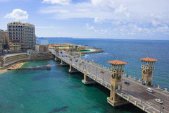 Stanley Bridge In A Beautiful Sunny Winter Day With The Background Of The Mediterranean Sea Stock Photos