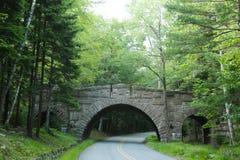 Stanley Brook Bridge nel parco nazionale di acadia Fotografia Stock Libera da Diritti