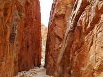 Stanley chasm gap. Stanley chasm in the West McDonnell ranges in the Northern Territory in Australia Royalty Free Stock Image