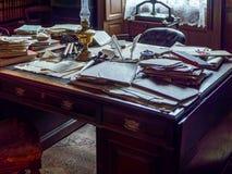 STANLEY, CONDADO DURHAM/UK - 20 DE ENERO: Oficina vieja del ` s del abogado Imagen de archivo libre de regalías