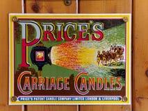 STANLEY, CONTEA DURHAM/UK - 20 GENNAIO: Vecchio cartellone pubblicitario I Fotografia Stock