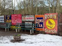 STANLEY, COUNTY DURHAM/UK - JANUARY 20 : Old advertising signs stock image