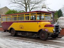 STANLEY, COUNTY DURHAM/UK - JANUARY 20 : Old Bus at the North of royalty free stock photos