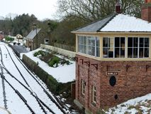 STANLEY, COUNTY DURHAM/UK - JANUARY 20 : Old Signal Box at the N stock images