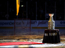 The Stanley Cup at Center Ice, Boston, MA Royalty Free Stock Photography