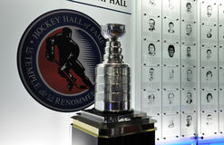 Stanley Cup. Photo was taken in Hockey Hall of Fame Museum in Toronto City, Ontario Province, Canada. November 2013 Stock Images