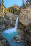 Stanley falls in Beauty creek canyon, Jasper national park in Al Royalty Free Stock Photo