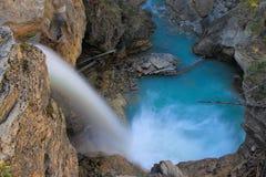 Stanley falls in Beauty creek canyon, Jasper national park in Al Stock Photo