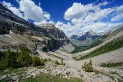 Stanley Glacier Valley no parque nacional de Kootenay Fotografia de Stock Royalty Free