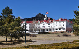 The Stanley Hotel is a famous tourist attraction Stock Photos