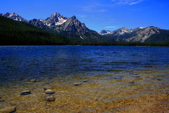 Stanley Lake 2. Stanley Lake with Sawtooths in background, Stanley Idaho Royalty Free Stock Images