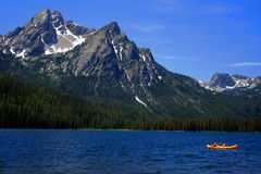 Stanley Lake. With Sawtooths in background, Stanley Idaho Stock Photos