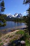 Stanley Lake & Mt McGowan Fotografering för Bildbyråer