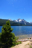 Stanley Lake & Mt McGowan Arkivbild