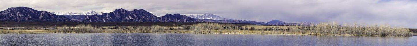 Stanley Lake Panorma Arkivfoto