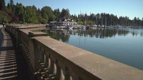 Stanley Park, Coal Harbor, Vancouver 4K UHD stock video