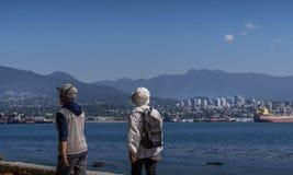 Stanley Park en Vancouver, A.C. imagenes de archivo
