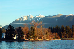 Stanley park and grouse mountain Stock Images
