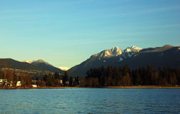 Stanley park and grouse mountain Royalty Free Stock Photography