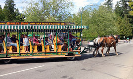 Stanley Park Horse-Drawn Tours Images stock