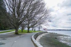 Stanley Park i Vancouver - härlig gränsmärke - VANCOUVER - KANADA - APRIL 12, 2017 Royaltyfria Bilder
