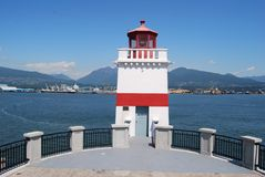 Stanley Park Lighthouse. In Vancovuer, Canada stock photo