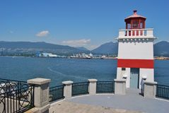 Stanley Park Lighthouse Stock Images