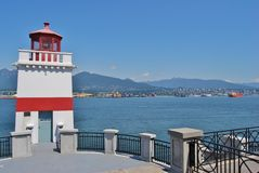 Stanley Park Lighthouse Stock Photography