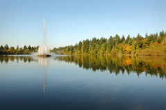 Stanley Park, Lost Lagoon Fountain, Vancouver Stock Photo