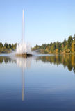 Stanley Park, Lost Lagoon Fountain, Vancouver vert Royalty Free Stock Photos