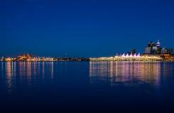Stanley Park por la tarde, hermosa vista de Vancouver Imagenes de archivo