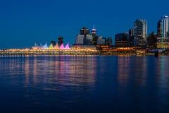 Stanley Park por la tarde, hermosa vista de Vancouver Imágenes de archivo libres de regalías