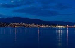 Stanley Park por la tarde, hermosa vista de Vancouver Fotos de archivo libres de regalías