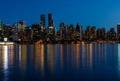 Stanley Park por la tarde, hermosa vista de Vancouver Fotografía de archivo libre de regalías