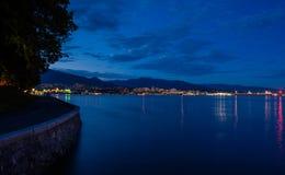 Stanley Park por la tarde, hermosa vista de Vancouver Foto de archivo libre de regalías