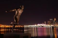 Stanley Park Runner Statue Images stock
