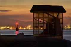 Stanley Park Seawall Twilight Royaltyfria Bilder
