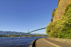Stanley Park seawall Stock Images