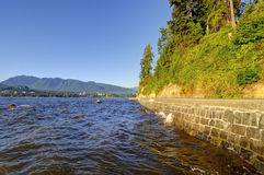 Stanley Park seawall in Vancouver, Canada Royalty Free Stock Photos