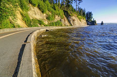 Stanley Park seawall in Vancouver, Canada Royalty Free Stock Photo